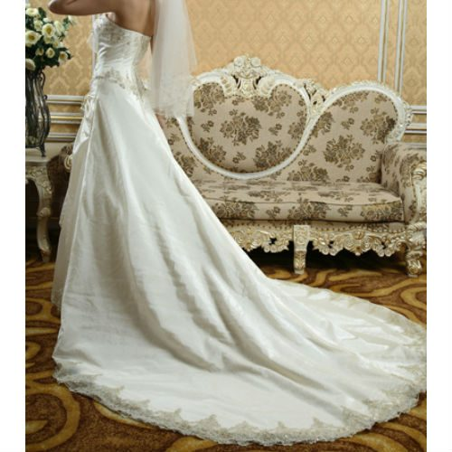 DH813 taffetta wedding dress