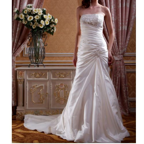 KL0165 taffetta wedding dress
