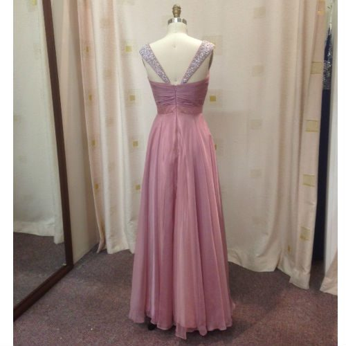 LL007 straps bridesmaid gown