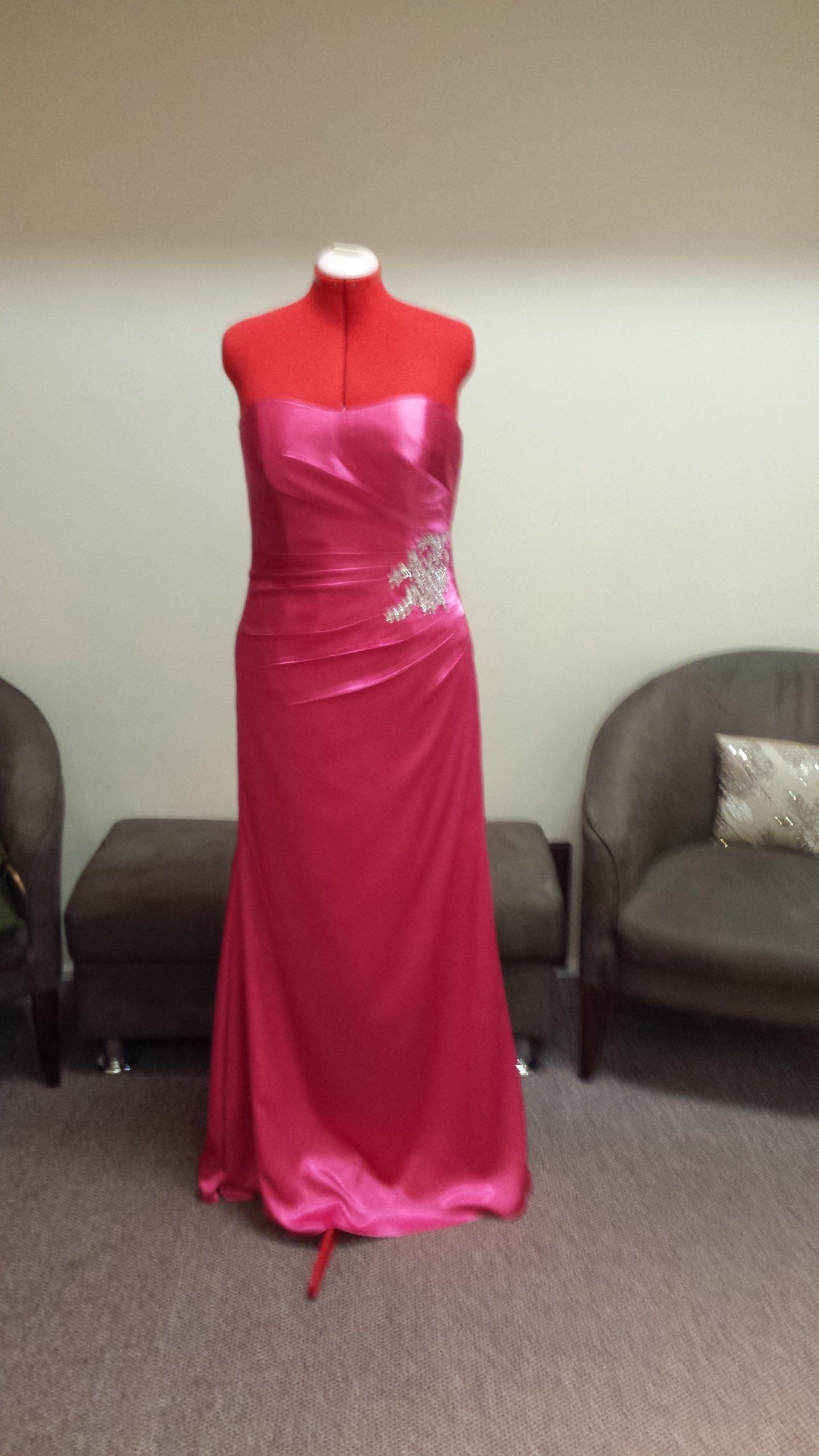 LL017 satin bridesmaid dress