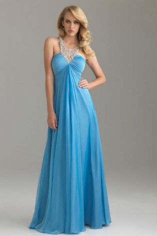 6401 Turquoise evening dress