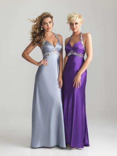 6663 Silver Evening Dress