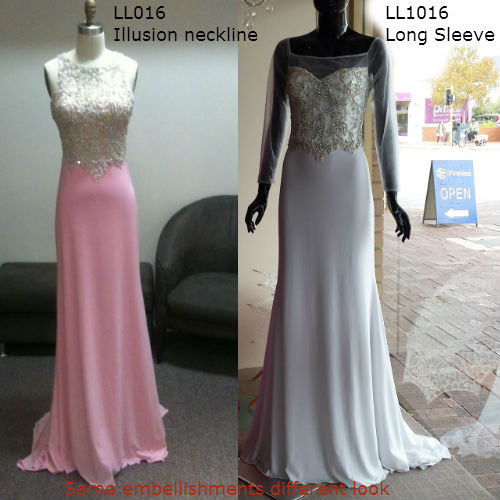 Evening dresses with custom changes