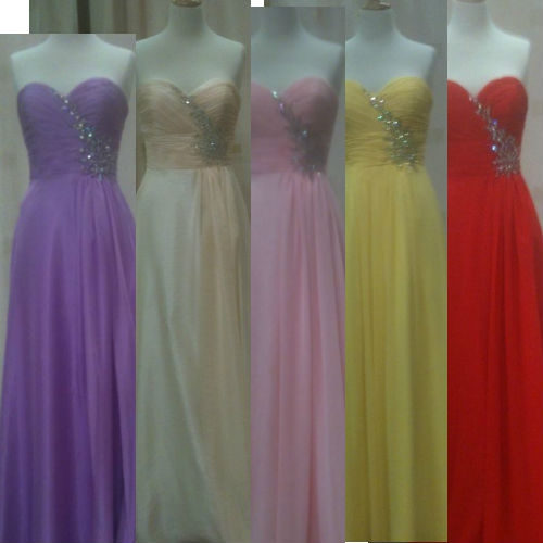 Your evening dress in your favourite color