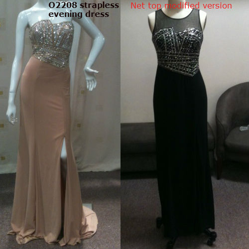 Change neckline of strapless dresses