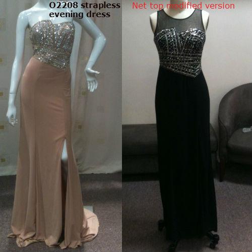 Change neckline of strapless dresses
