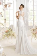 PADAN wedding dress with detachable keyhole lace top