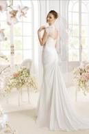 PADAN wedding dress with detachable keyhole lace top