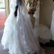 3 metre custom 2tier lace trim veil