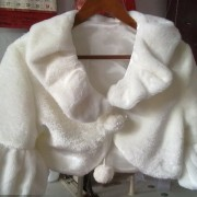 Fancy Sleeves Faux Fur Bolero