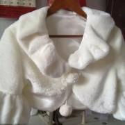 Fancy Sleeves Faux Fur Bolero