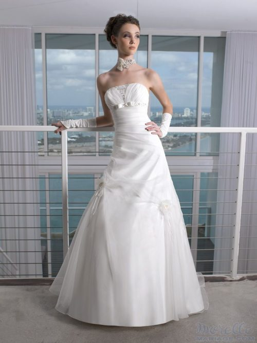 JY115-17 organza wedding dresses
