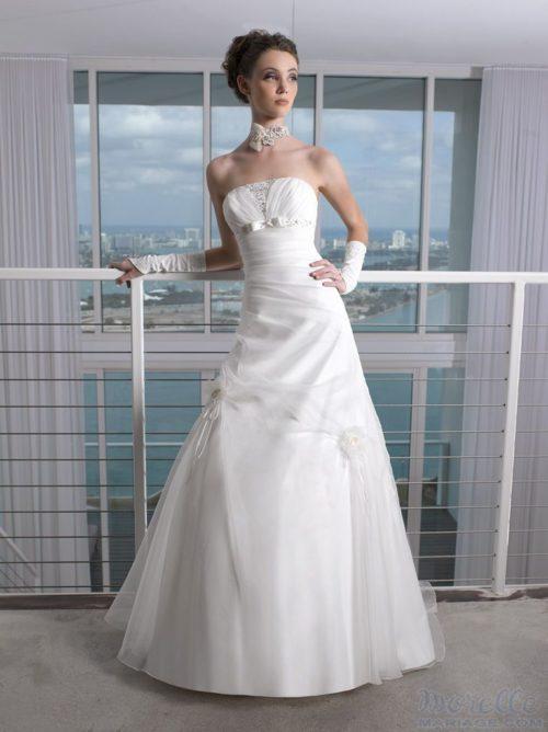 JY115-17 organza wedding dresses