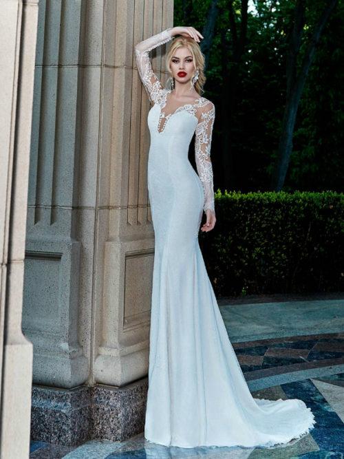 ID1001 Long Sleeves lace mermaid lace wedding dress