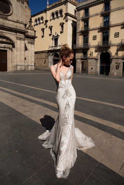 ID1141 Villassar beaded wedding dress