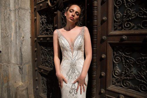 ID1141 beaded lace wedding dress