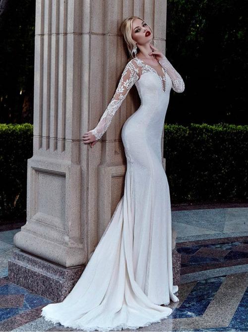 Long Sleeves Lace Wedding Dress