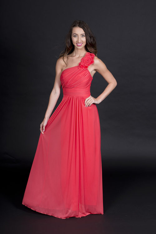 WA5921 Coral Bridesmaid Dress