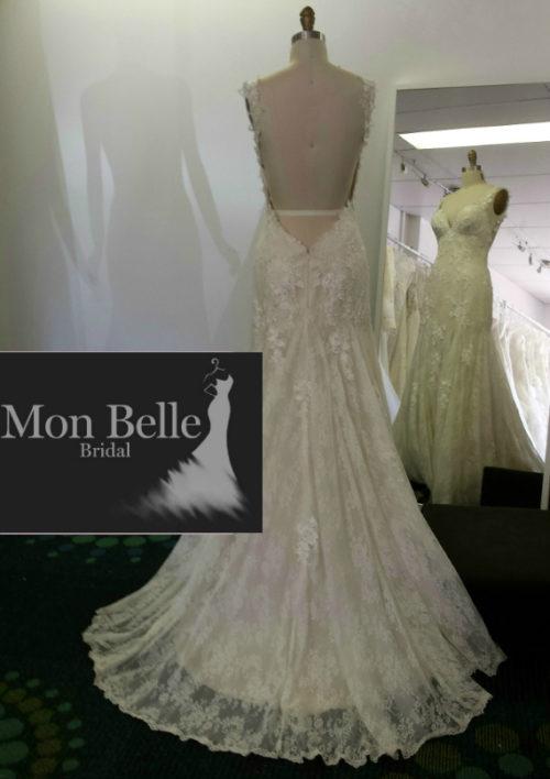 LL1503 backless lace wedding dress