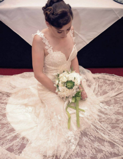 LL1503 sexy low back lace wedding dress