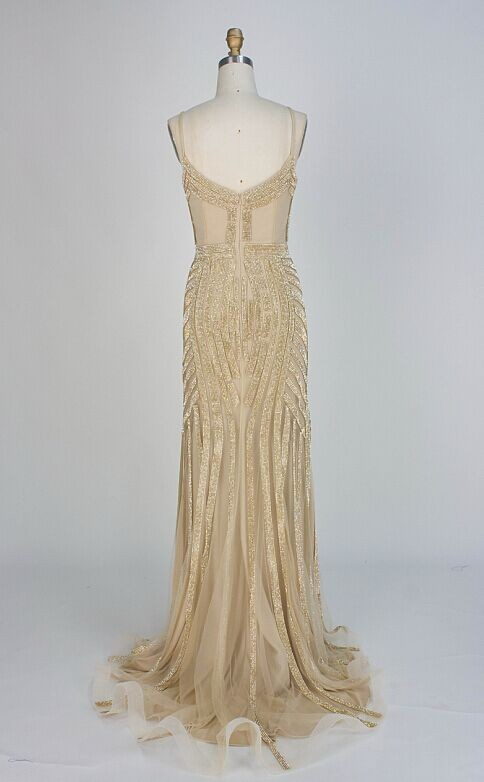 O2829nude-gold-shimmery evening dress