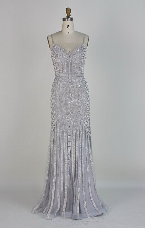 O2829silver-silver shimmery evening dress