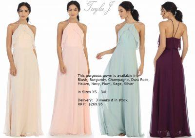 T5133 trendy modern halterneck bridesmaid dresses