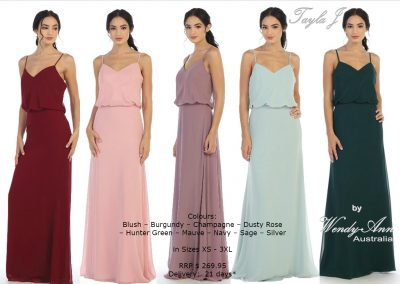 T8133 modern bridesmaid dresses