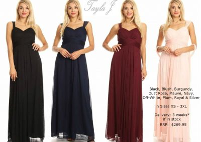 T9623 strap sweetheart necklince flowy bridesmaid dresses