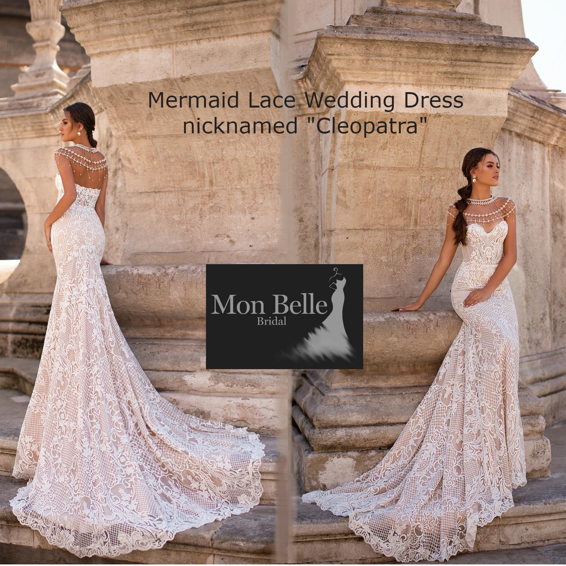 Unique Wedding Dresses Au: CLEOPATRA Unique Lace Mermaid Wedding Dress