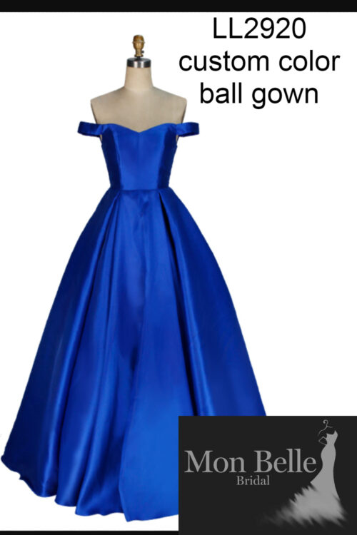 LL2920 custom color drop sleeves Ball Gown