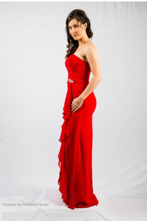 O2338 custom color bridesmaids evening dress