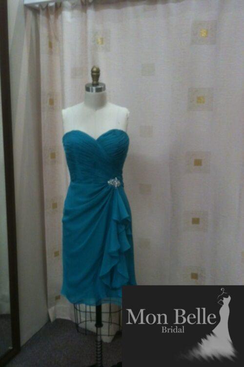 O2338 short bridesmaid dress