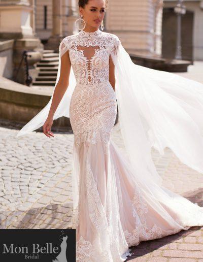 REGAL unique wedding dress with majestic cape LR18039