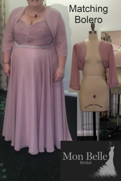LL007 bridesmaid dress with matching bolero