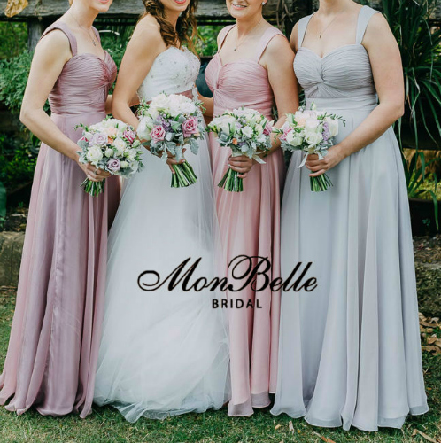 custom colour bridesmaid dresses LL007 with straps