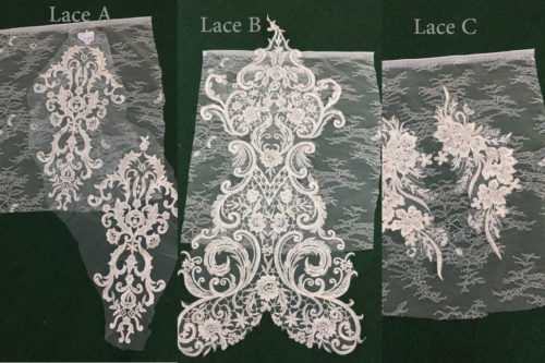 Choice of Lace A B or C