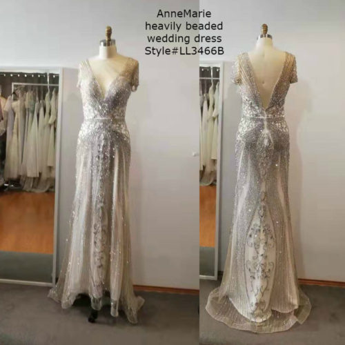 AnneMarie heavily beaded wedding dress LL3466B