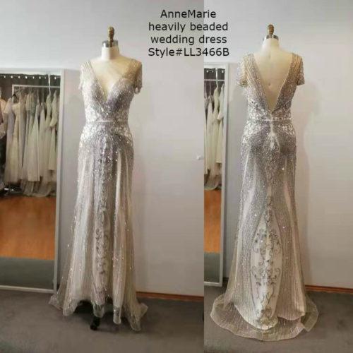 AnneMarie heavily beaded wedding dress LL3466B