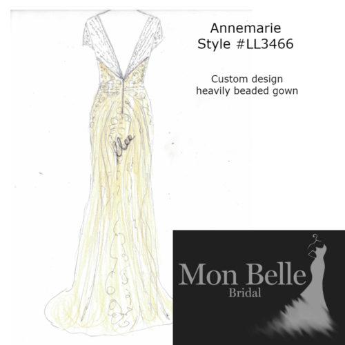 Annemarie Custom design heavily beaded gown LL3466