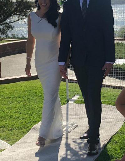 Danielle boat neck jersey maternity wedding dress