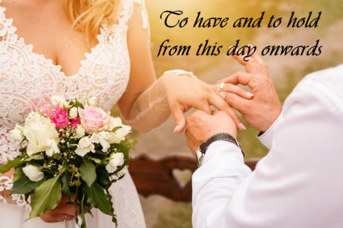 Lockdown wedding