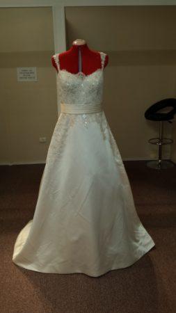 PASHA satin A-line wedding dress