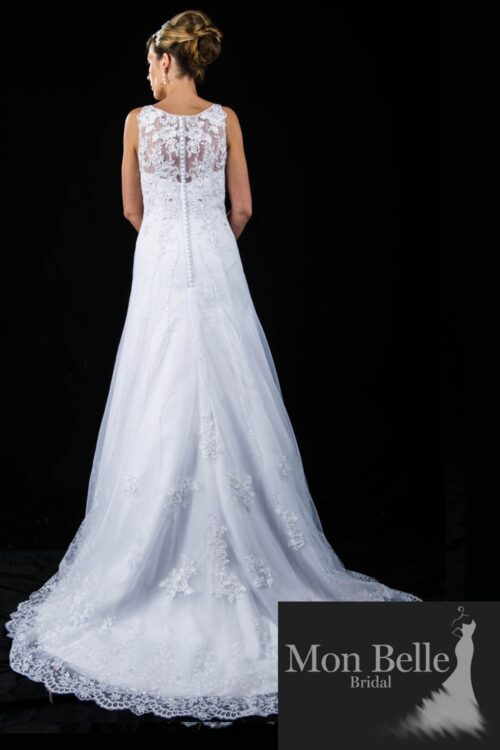 JULIE lace wedding dress with train C1369