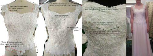 Keeley wedding dress creation