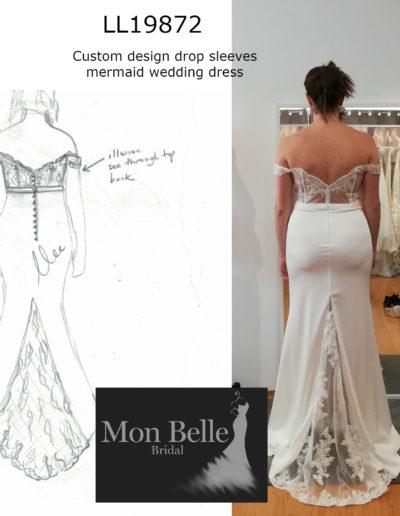 ROSYLN custom design drop sleeves mermaid wedding dress LL19872