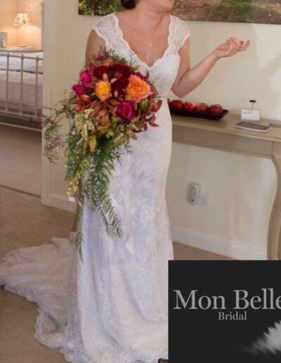 Natalie custom lace design wedding dress C1506