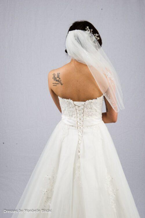 SOPHIA lace up back lace wedding dress C1527