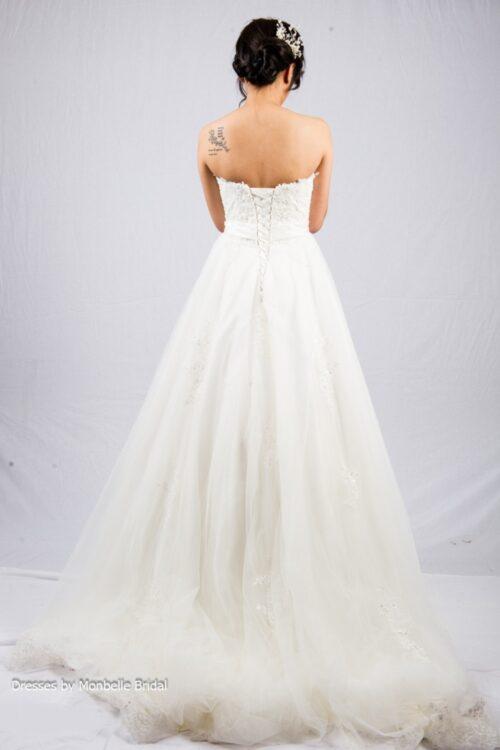 SOPHIA strapless lace wedding dress C1527