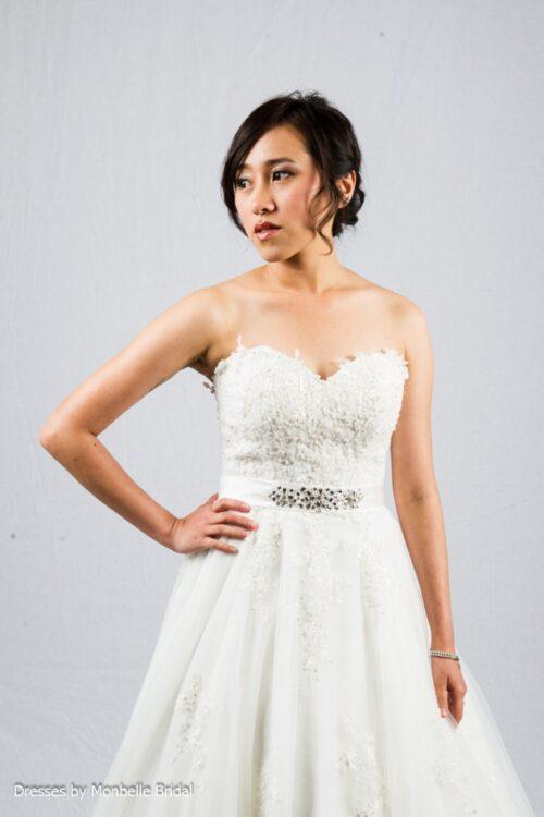 SOPHIA strapless sweetheart lace wedding dress C1527